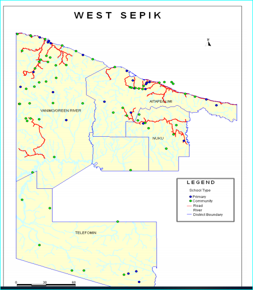 West Sepik map